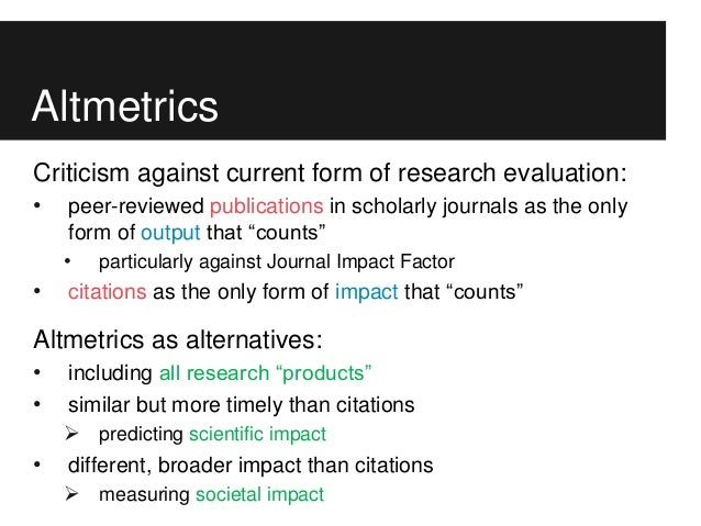 Scholarly communication and evaluation: from bibliometrics