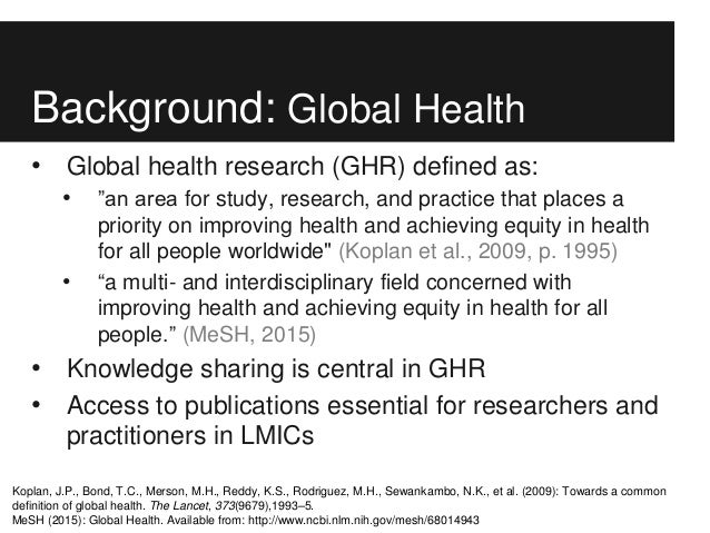 Haustein, S., Smith, E., Mongeon, P., Shu, F., & Larivière, V. (2016): Access to global health research. Prevalence and cost of open access Slide 3