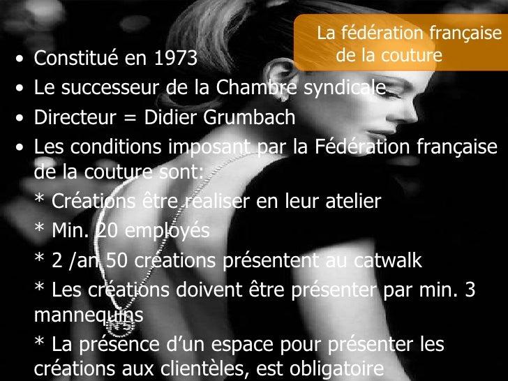 Haute couture parissienne - La chambre syndicale de la haute couture ...