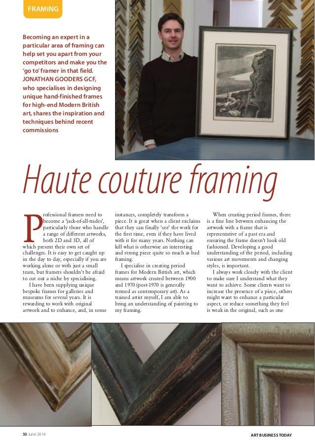 Art Business Today: Modern British Art - Haute couture framing