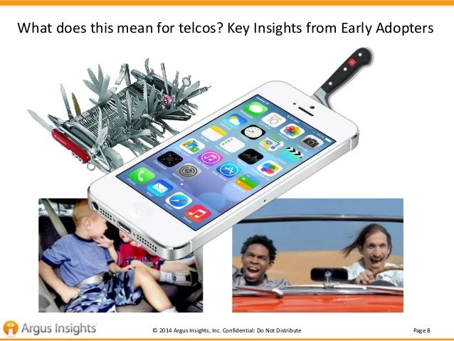 Page 8© 2014 Argus Insights, Inc. Confidential: Do Not Distribute What does this mean for telcos? Key Insights from Early ...