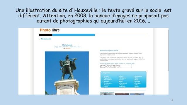 Une illustration du site d' Hauxeville : le texte gravé sur le socle est différent. Attention, en 2008, la banque d'images...