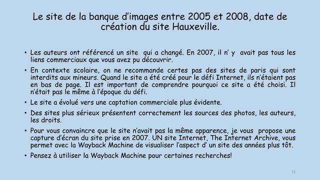 Le site de la banque d'images entre 2005 et 2008, date de création du site Hauxeville. • Les auteurs ont référencé un site...