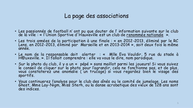 La page des associations • Les passionnés de football n' ont pu que douter de l' information suivante sur le club de la vi...