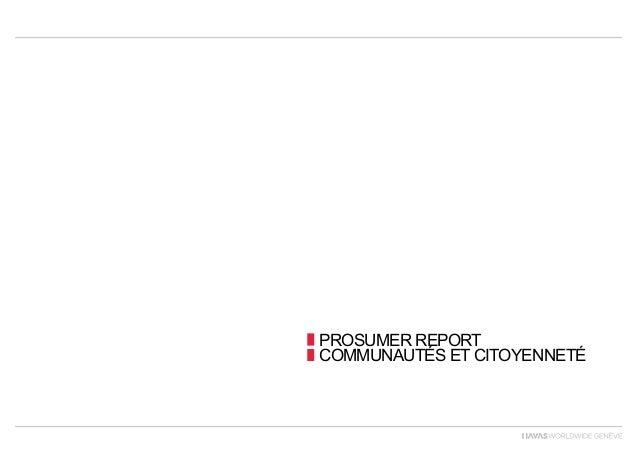 PROSUMER REPORTCOMMUNAUTÉS ET CITOYENNETÉ
