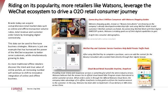 Riding on its popularity, more retailers like Watsons, leverage the WeChat ecosystem to drive a O2O retail consumer journe...