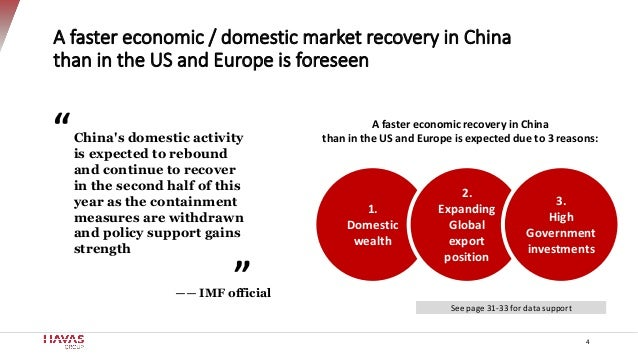 China's domestic activity is expected to rebound and continue to recover in the second half of this year as the containmen...