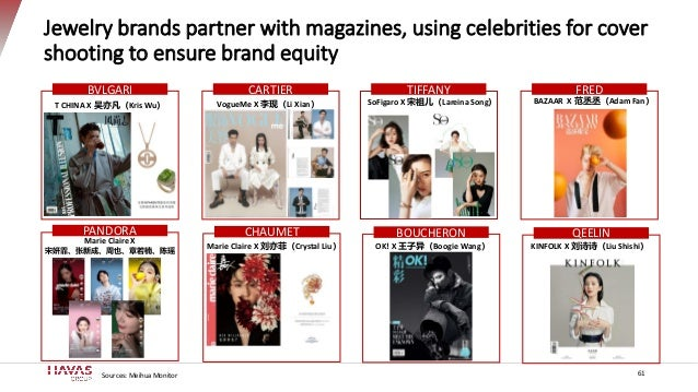 Jewelry brands partner with magazines, using celebrities for cover shooting to ensure brand equity SoFigaro X 宋祖儿(Lareina ...