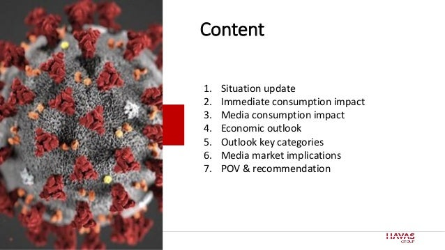 2 Content 1. Situation update 2. Immediate consumption impact 3. Media consumption impact 4. Economic outlook 5. Outlook k...