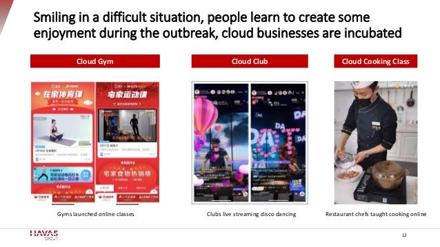 Smiling in a difficult situation, people learn to create some enjoyment during the outbreak, cloud businesses are incubate...