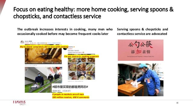 Focus on eating healthy: more home cooking, serving spoons & chopsticks, and contactless service 15 Serving spoons & chops...
