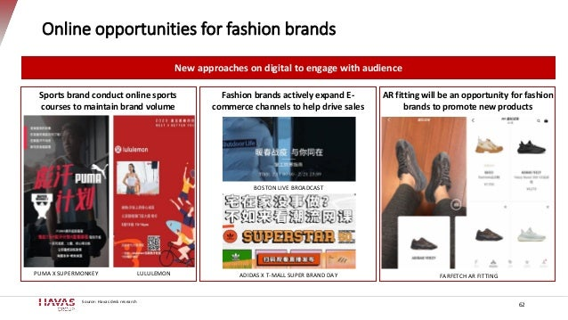 Online opportunities for fashion brands New approaches on digital to engage with audience Sports brand conduct online spor...