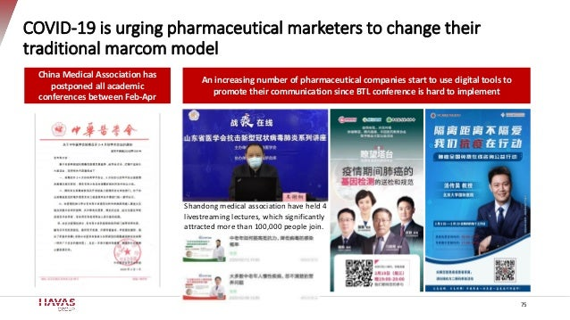 COVID-19 is urging pharmaceutical marketers to change their traditional marcom model China Medical Association has postpon...