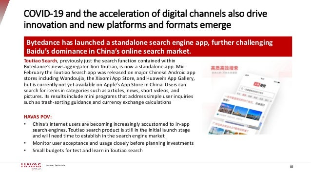 COVID-19 and the acceleration of digital channels also drive innovation and new platforms and formats emerge Source: Techn...