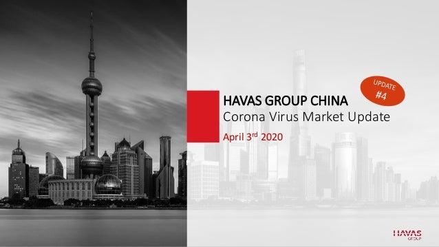 April 3rd 2020 HAVAS GROUP CHINA Corona Virus Market Update