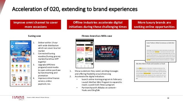 Acceleration of 020, extending to brand experiences 16 More luxury brands are seeking online opportunities 1. Show custome...