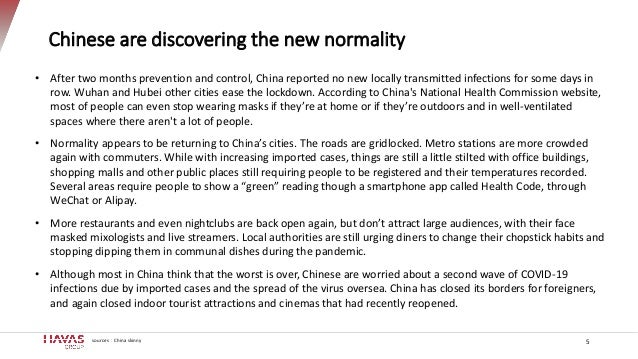 Chinese are discovering the new normality 5 • After two months prevention and control, China reported no new locally trans...