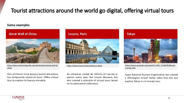 Tourist attractions around the world go digital, offering virtual tours Great Wall of China An attraction visited by milli...