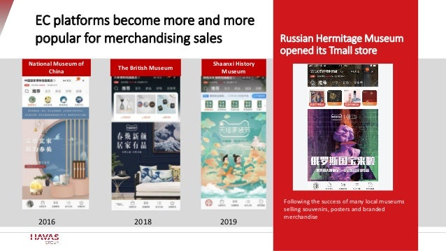 Russian Hermitage Museum opened its Tmall store 2018 20192016 EC platforms become more and more popular for merchandising ...