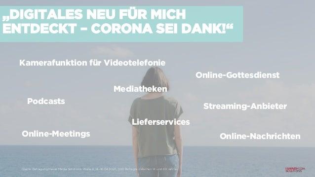 """""""DIGITALES NEU FÜR MICH ENTDECKT – CORONA SEI DANK!"""" Kamerafunktion für Videotelefonie Online-Gottesdienst Streaming-Anbie..."""