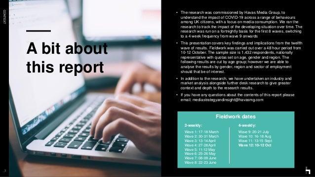 COVID-19 // Media Behaviours Report Vol.12 // Havas Media UK POV Slide 3