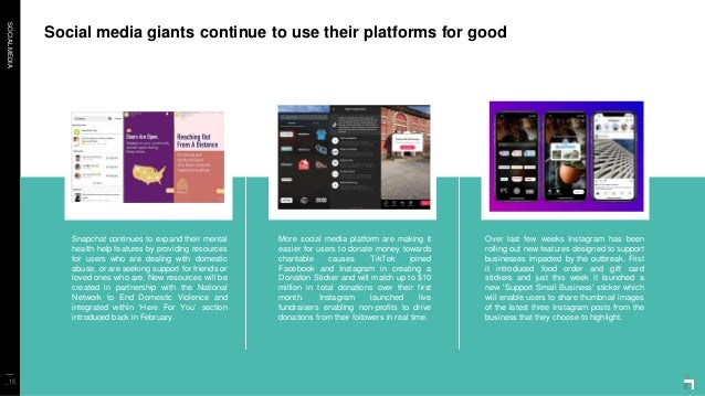 SOCIALMEDIA Social media giants continue to use their platforms for good _15 Snapchat continues to expand their mental hea...