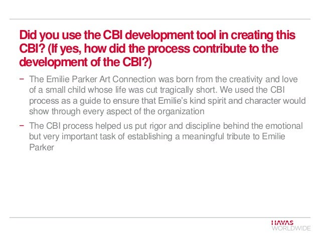 Did you use the CBI development tool in creating this CBI? (If yes, how did the process contribute to the development of t...