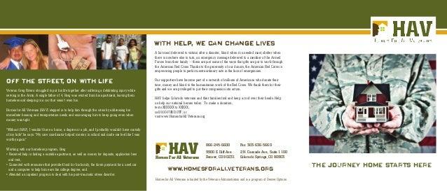 Homes for All Veterans Program Brochure