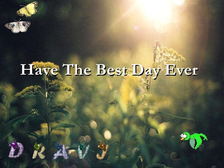 Have The Best Day Ever