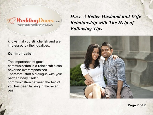 husband and wife relationship help