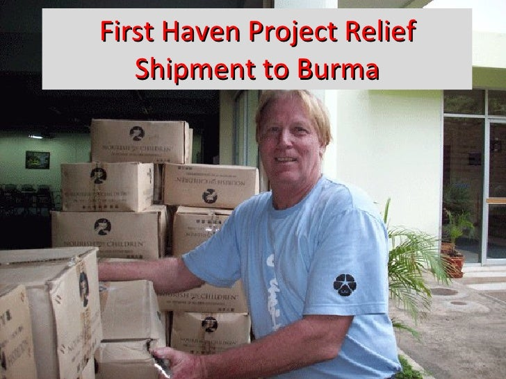 First Haven Project Relief Shipment to Burma