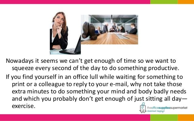 Nowadays it seems we can't get enough of time so we want to  squeeze every second of the day to do something productive.  ...