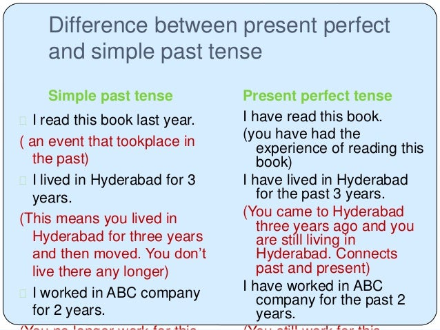 Have you ever used the present perfect tense by rajee ...