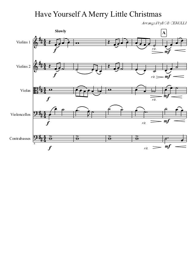 Have Yourself A Merry Little Christmas Violin Sheet Music.Have Yourself A Merry Little Christmas
