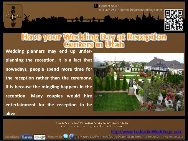 Have Your Wedding Day At Reception Centers In Utah