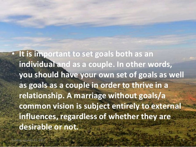 Have You Set Your Marriage Goals In 2017?