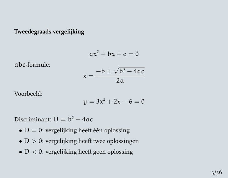 wiskunde havo 3