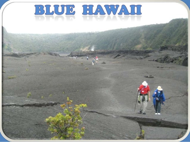 Walking Blue Hawaii