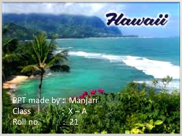 travel and tourism - Hawaii