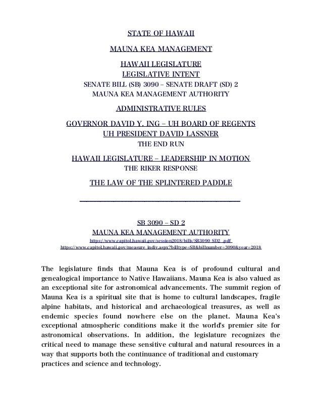 Hawaii - Governor David Ige - UH Board of Regents - UH