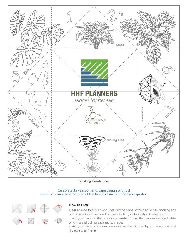 HHF Planners' Hawaiian Cultural Plant Fortune Teller