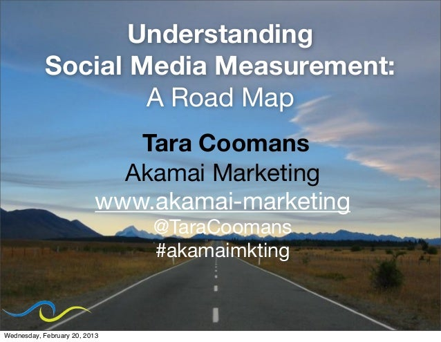 Understanding            Social Media Measurement:                    A Road Map                              Tara Coomans...