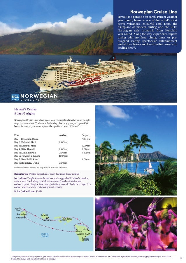 hawaii travel brochures