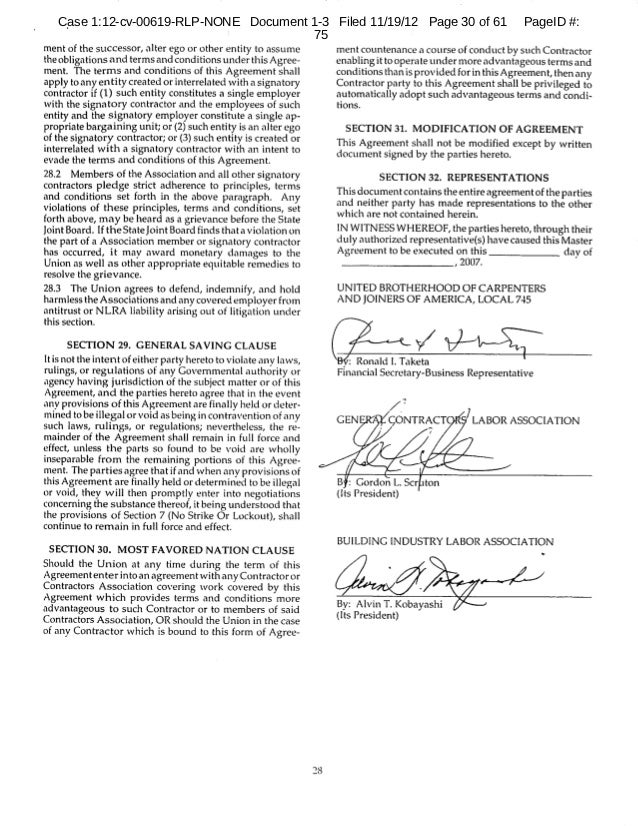 hawaii carpenters union agreement