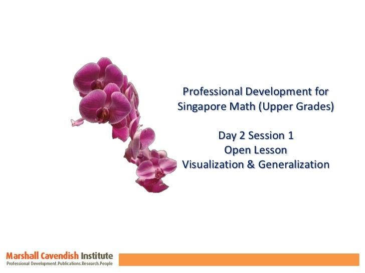 Professional Development for <br />Singapore Math (Upper Grades)<br />Day 2 Session 1<br />Open Lesson<br />Visualization ...