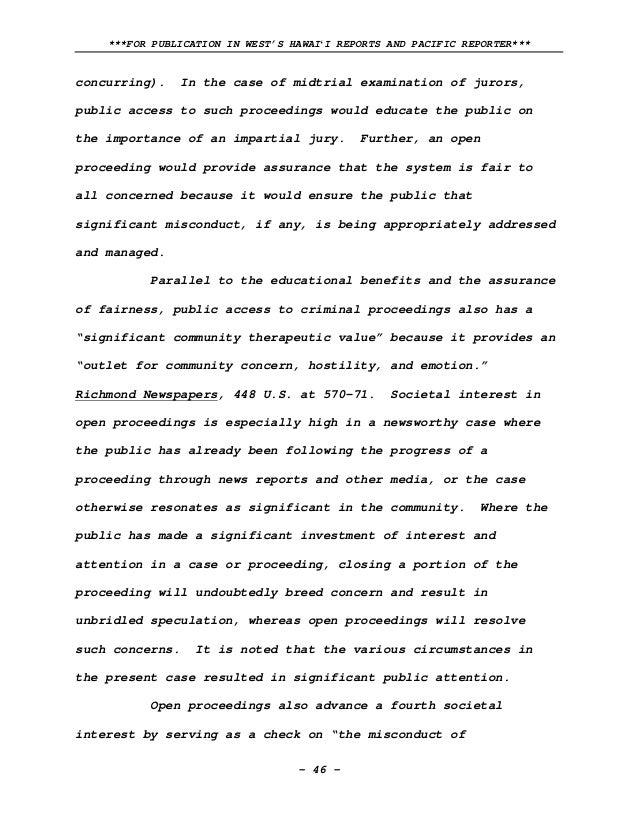 Hawaii Supreme Court Ruling In Deedy Case