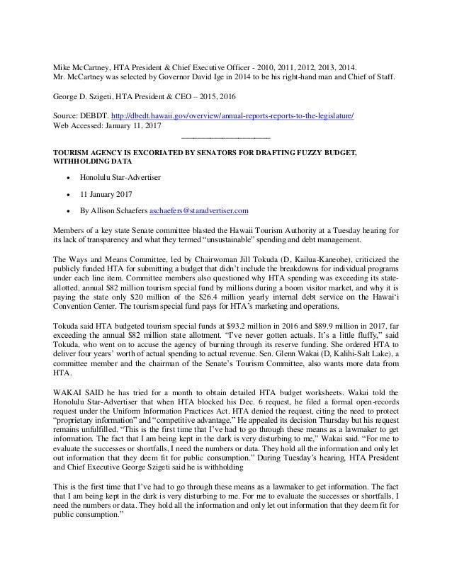 Hawaii Tourism Authority [HTA] - The Revolution Begins