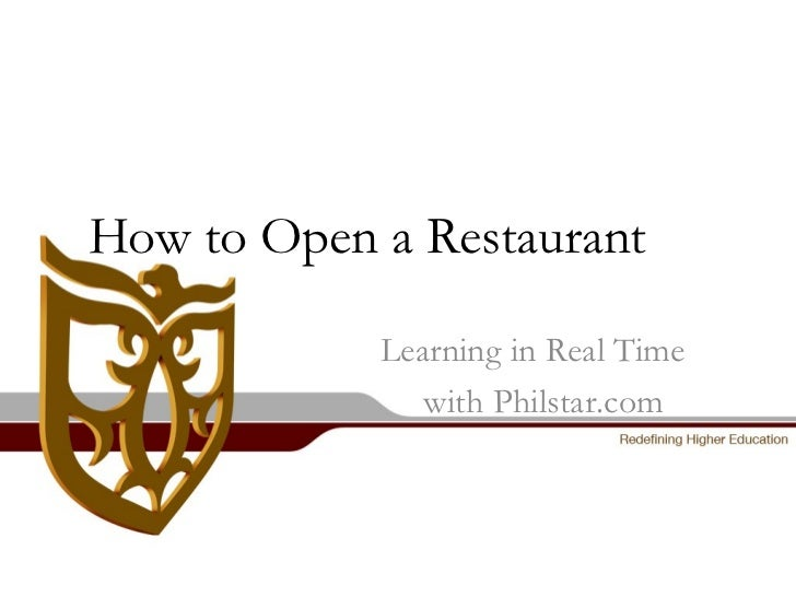 How to Open a Restaurant   Learning in Real Time with Philstar.com