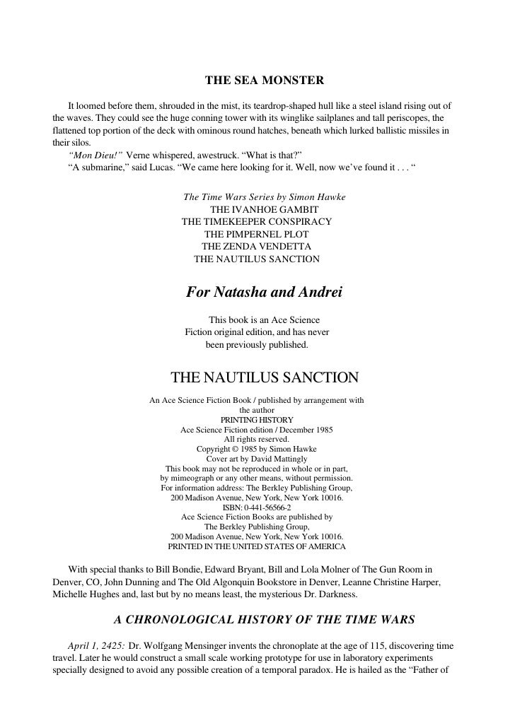 Hawke, simon   time wars 5 - the nautilus sanction