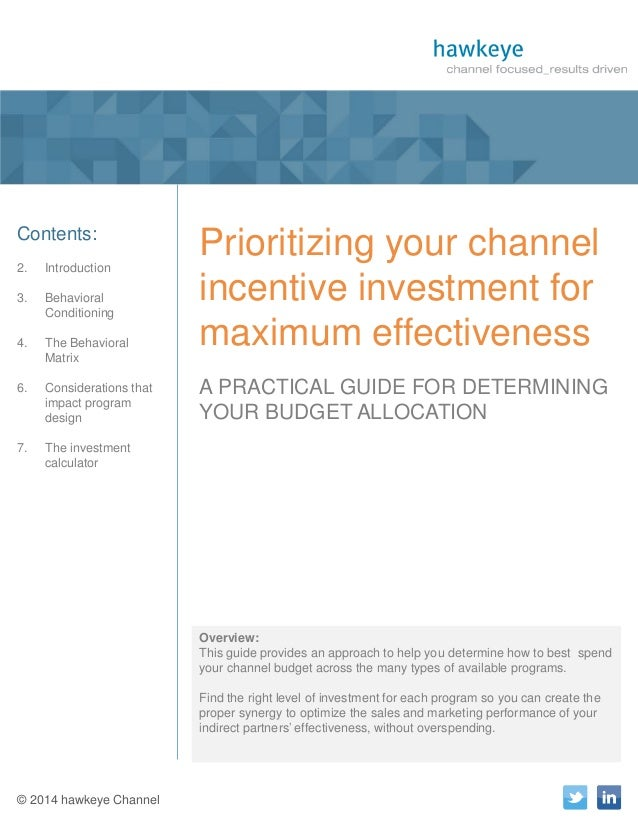 1  A Publication of hawkeye Channel  Contents: 2.  Introduction  3.  Behavioral Conditioning  4.  The Behavioral Matrix  6...